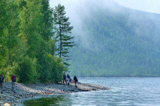 Wandern am Baikalufer
