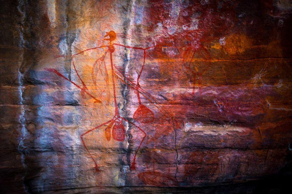 Wandmalerei im Kakadu Nationalpark