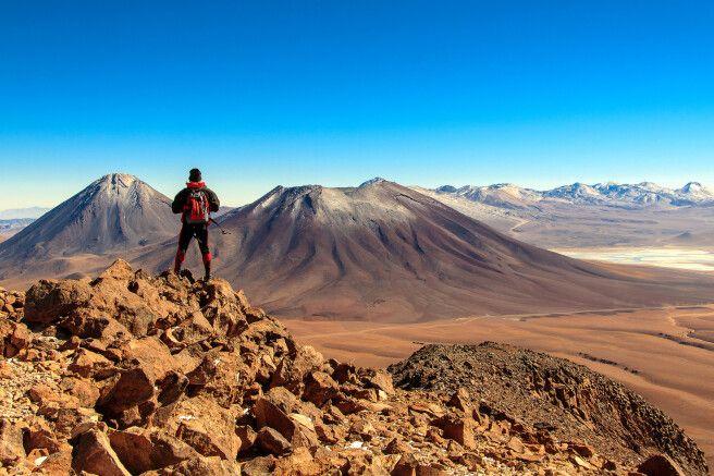 Auf dem Gipfel des Cerro Toco