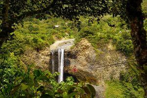 Wasserfall in Baños, Ecuador