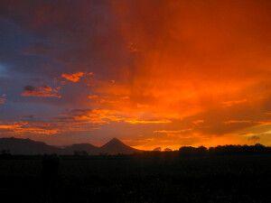 Costa Rica - Sonnenuntergang am Arenal