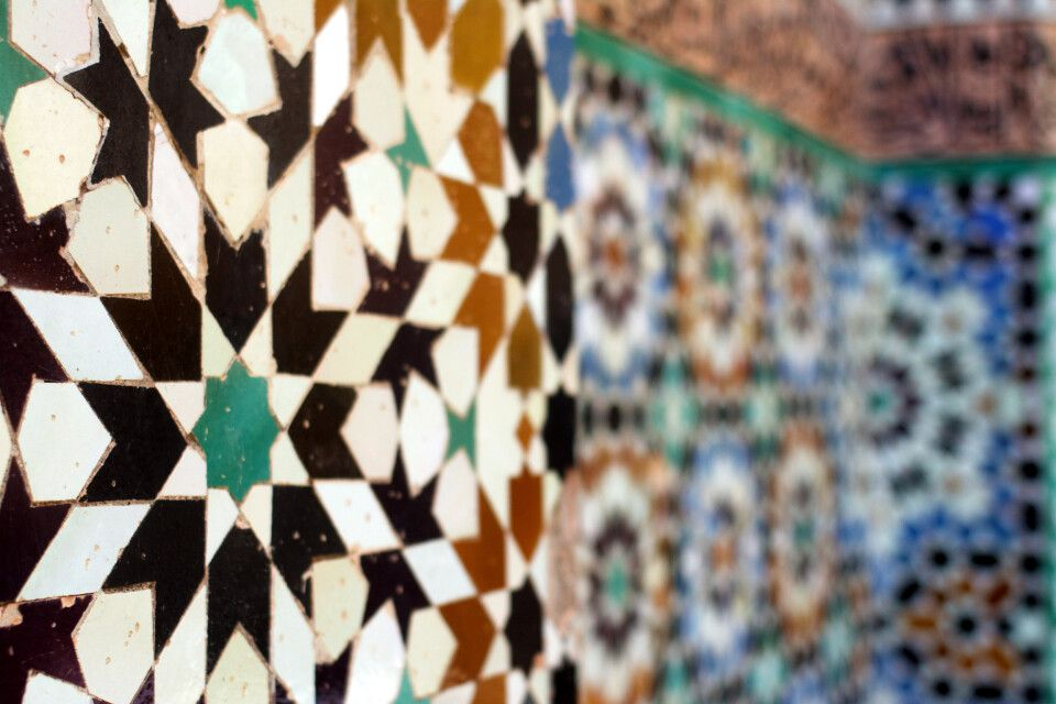 Mosaik in Marrakesch