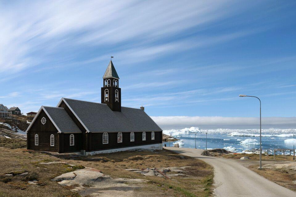 Die schöne Kirche von Ilulissat