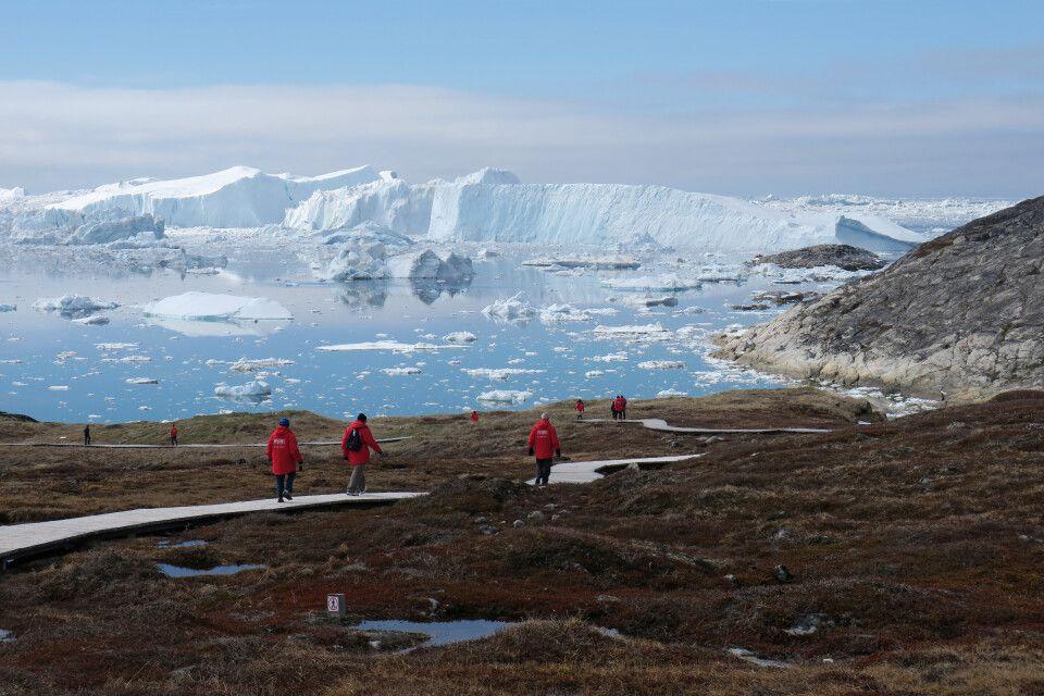 Kurze Wanderung zum Eisfjord – UNESCO-Welterbe