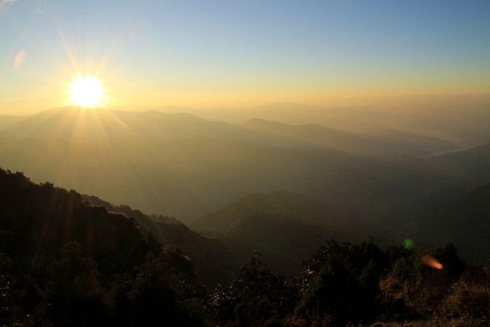 Sonnenaufgang in Manginkot