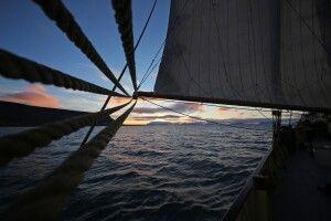 Abendstimmung an Bord der Noorderlicht