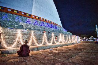 Mönch in Anuradhapura