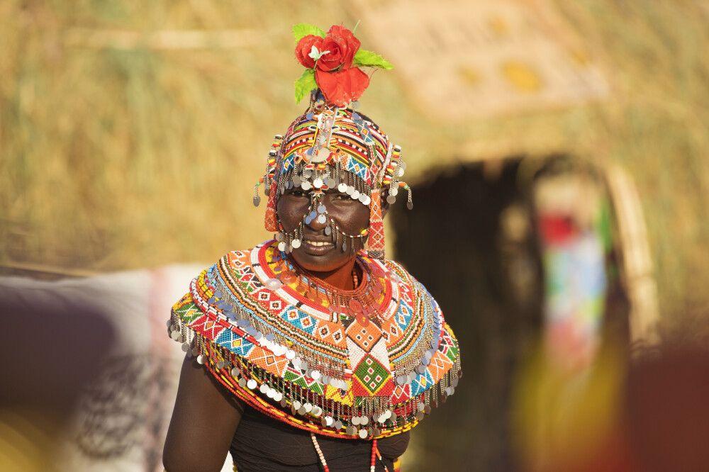 Prachtvoll geschmückte Samburu