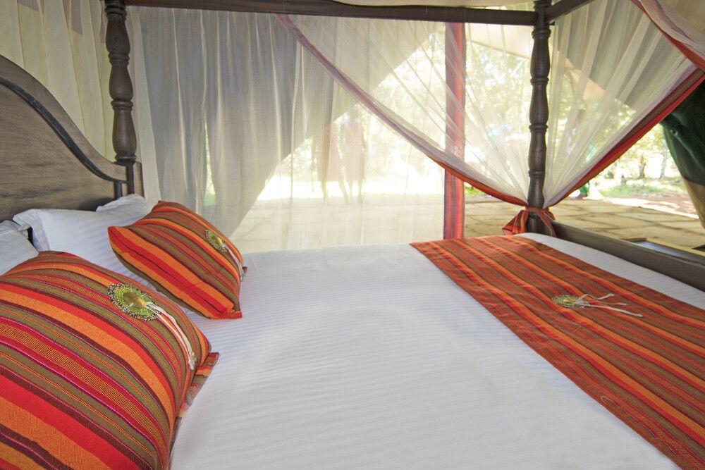 Mara Legends Camp, komfortables Doppelbett