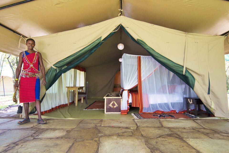 Mara Legends Camp, Blick ins Zelt
