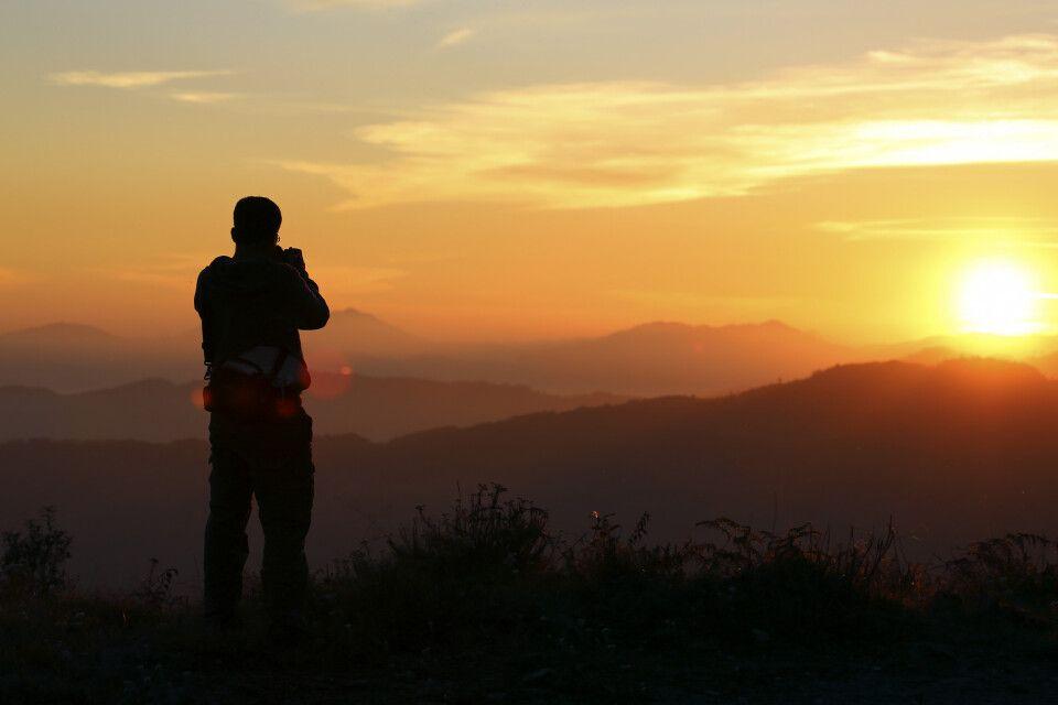 Sonnenuntergang in Ostnepal