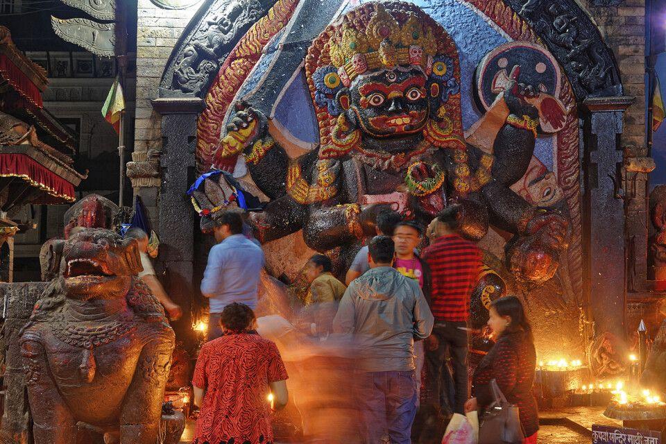 Kleiner Tempel in Kathmandu