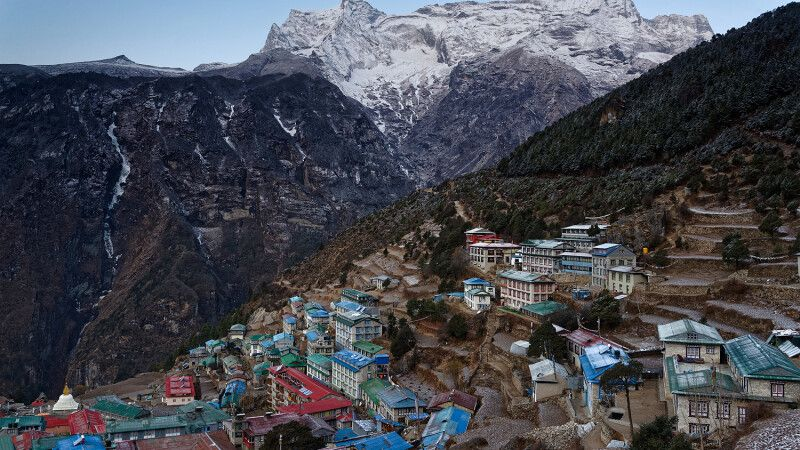 Sherpa-Hauptstadt Namche Bazar © Diamir