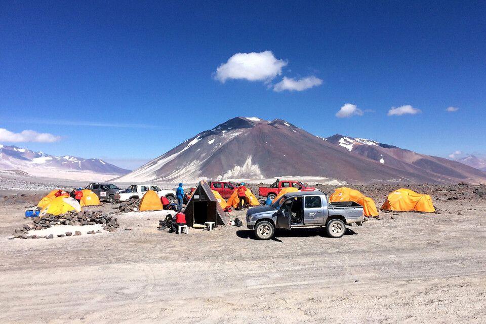 Basislager Atacama am Ojos del Salado
