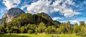 Malerische Landschaft während des Trekkings Termas de Callao
