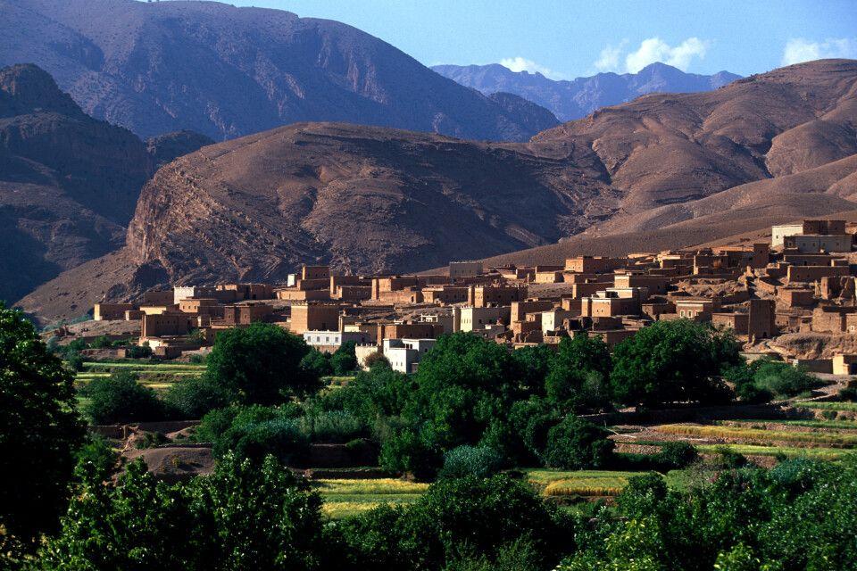 Tal der Strasse der Kasbahs
