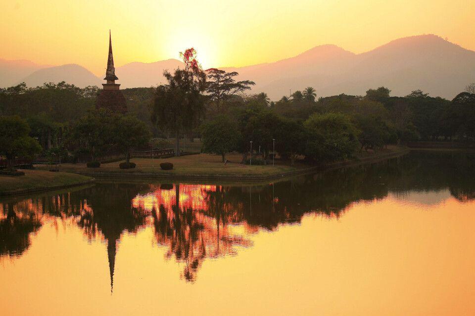 Sa Sri Tempel in Sukhothai