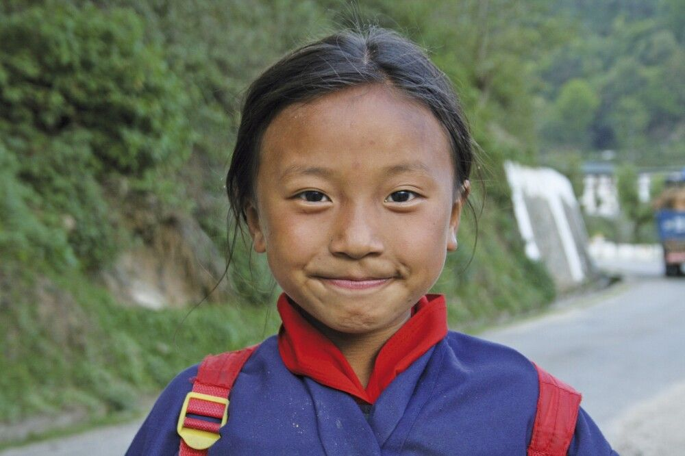 Schulkind in Trongsa