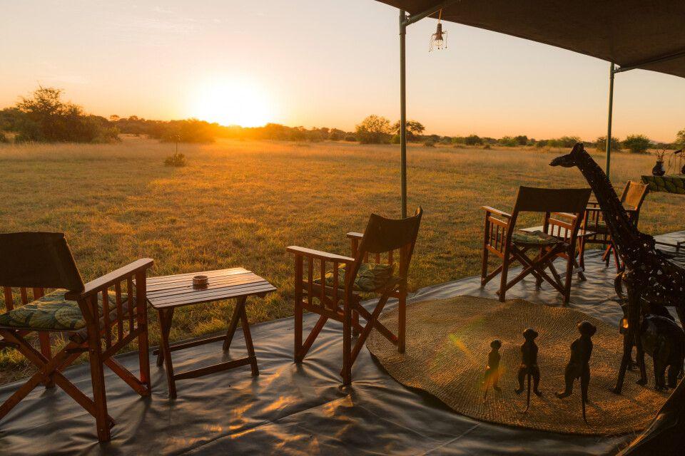 Sonnenaufgang am Serengeti View Camp