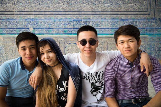 Begegnung in Usbekistan