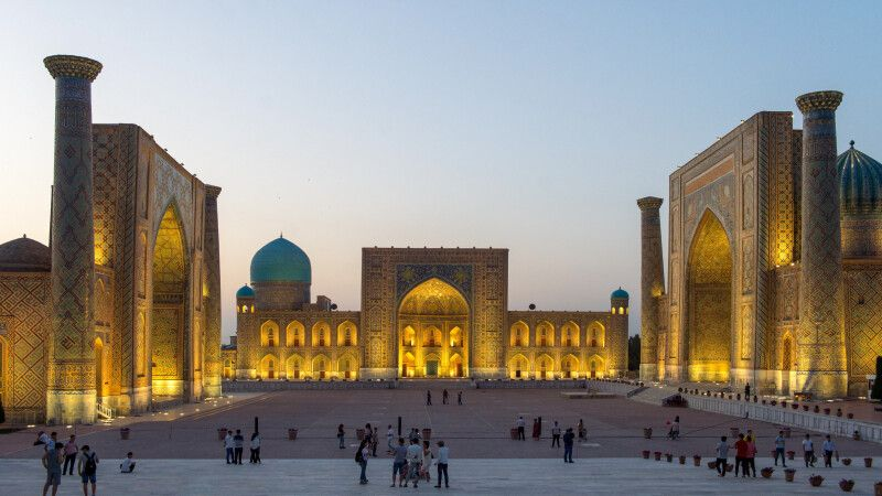 Der Registan in Samarkand © Diamir