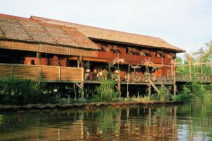 das Besucherzentrum Lamin Dana - Lodge und Kulturzentrum