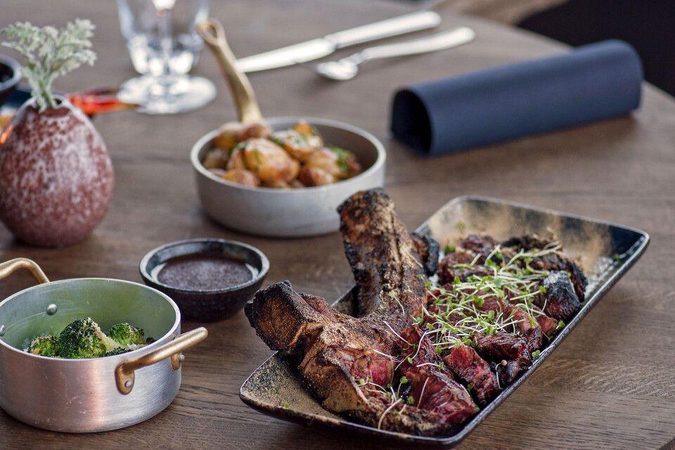 Funken Lodge, fantastische Küche im Restaurant