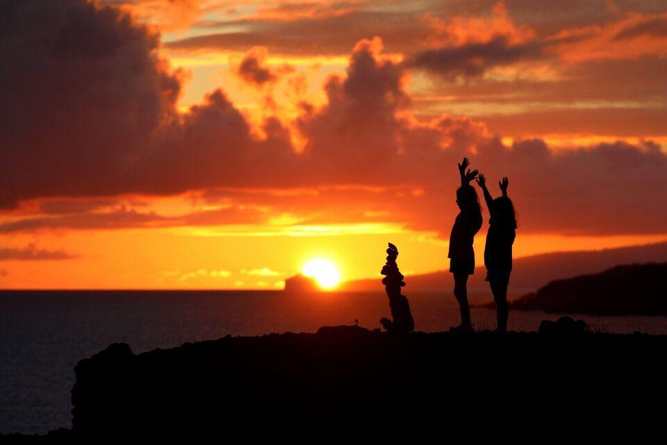 Sonnenuntergang Richtung Faial