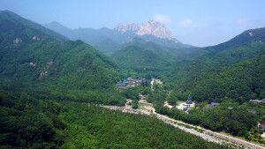 Blick von der Gondel im Seoraksan Nationalpark