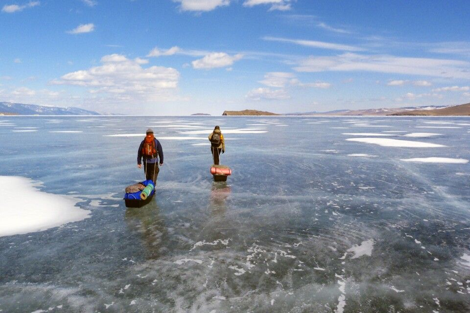 Eistrekking Baikalsee