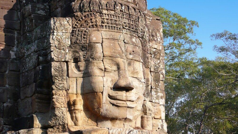 Am Bayon in Angkor