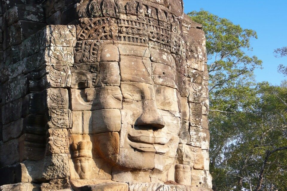am Bayon in Angkor