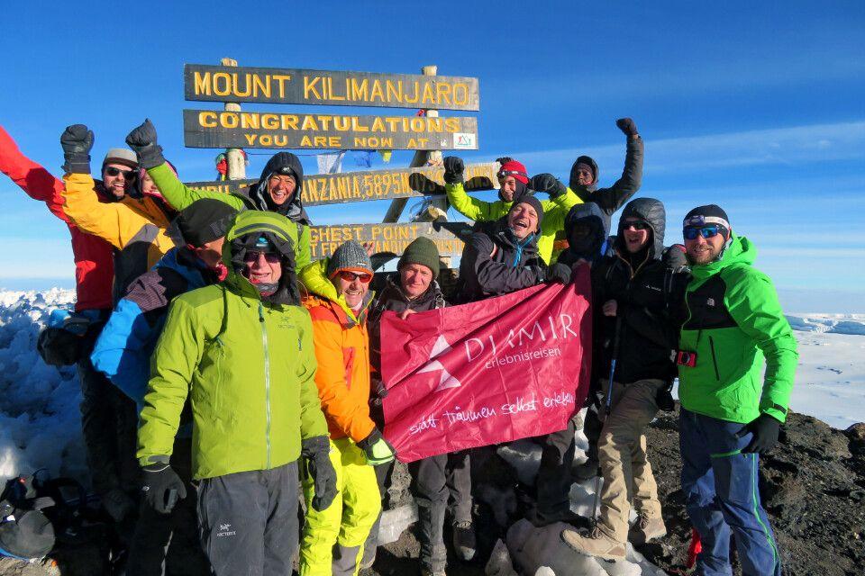 Am Gipfel des Kilimanjaro