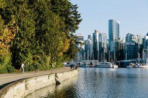 Blick vom Stanley Park auf Vancouver