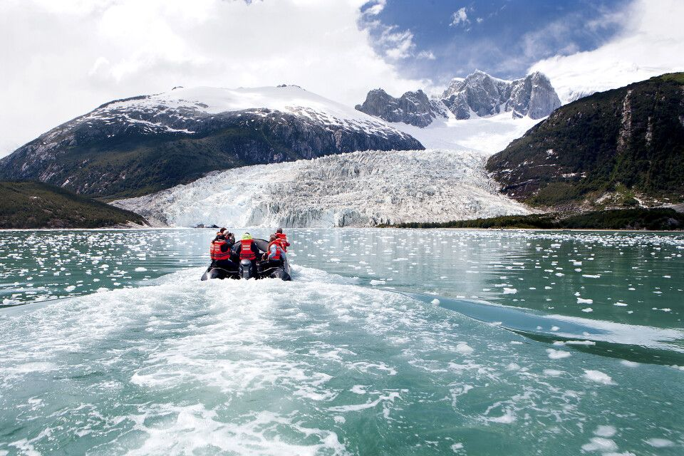 Zodiac-Ausflug zum Pia-Gletscher