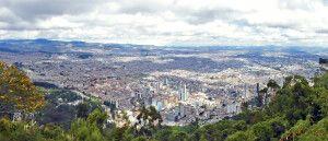 Aussicht über Bogotá vom Cerro Monserrate
