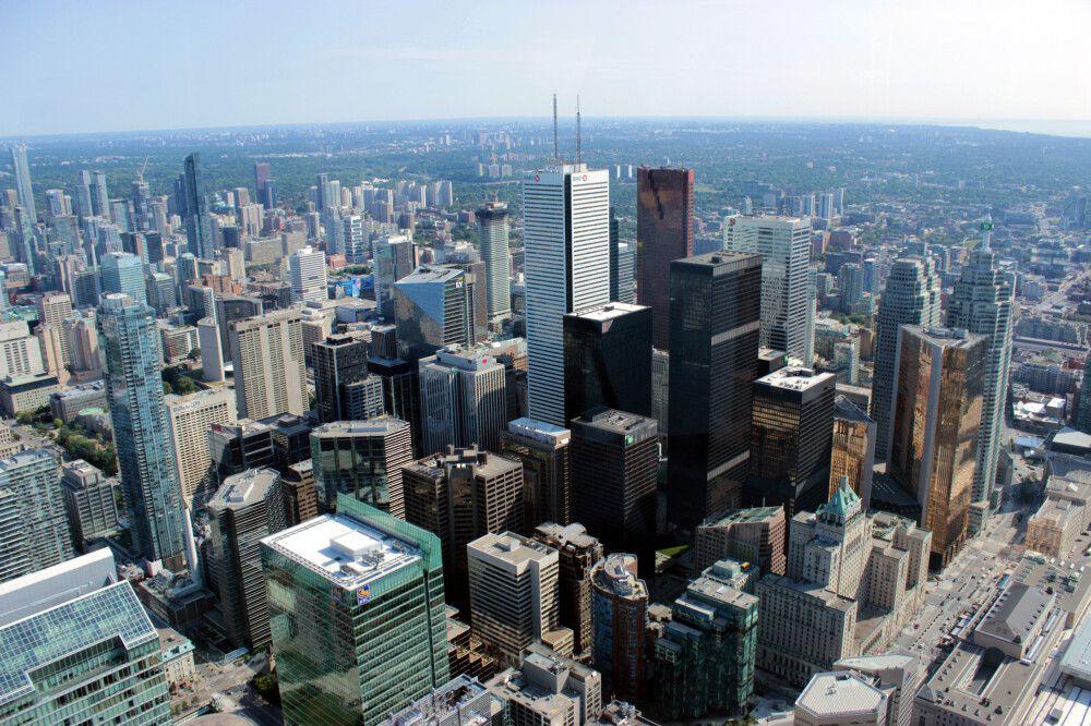 Blick vom CN Tower auf Toronto