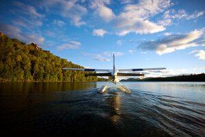 Wasserflugzeug am Lac Sacacomie
