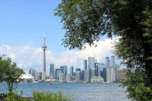 Blick von den Toronto Islands auf die Stadt