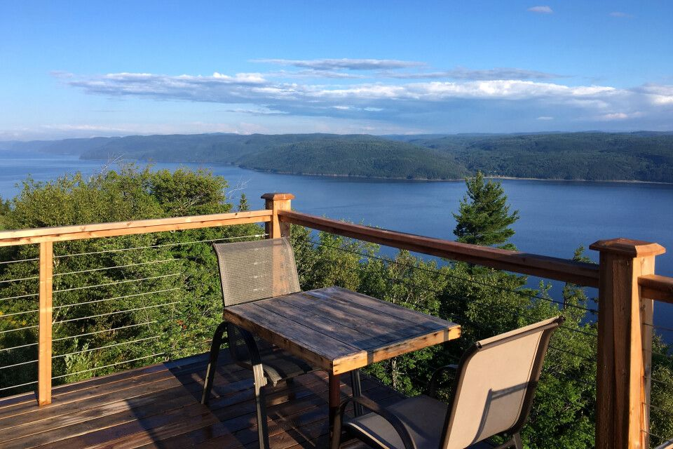 Blick auf den Saguenay-Fjord vom Cap au Leste