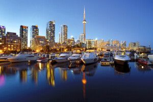 Toronto Skyline in der Dämmerung