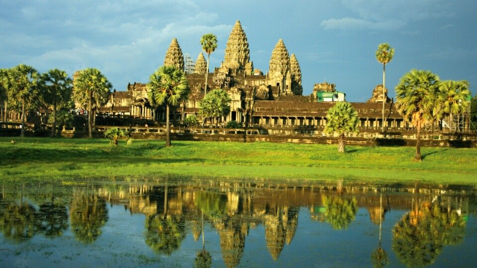 Blick auf Angkor Wat