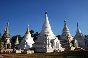 Stupas in Mandalay