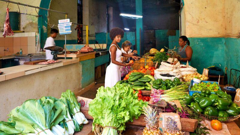 Obst- und Gemüsemarkt in Havanna © Diamir