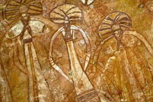 Felsmalerei am Nourlangie Rock im Kakadu-Nationalpark