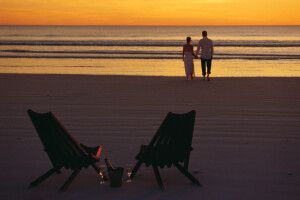 Sonnenuntergang am Cable Beach in Broome