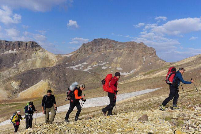 Aufstieg zum Aragats-Nordgipfel