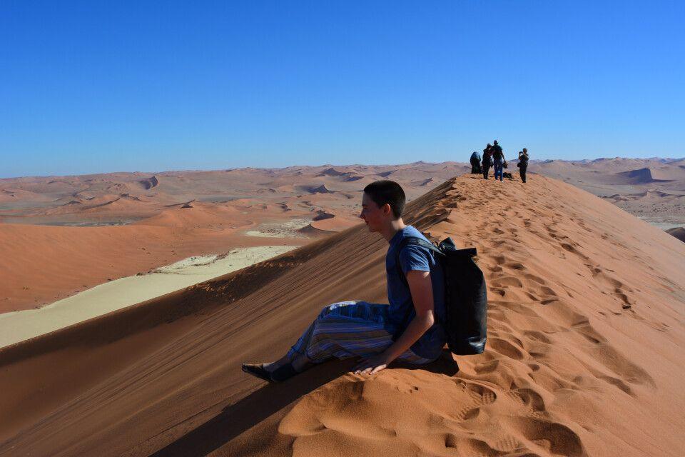 Wanderung entlang der Dünen am Sossusvlei
