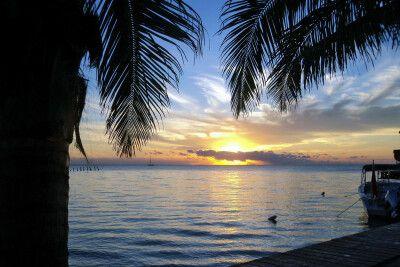 Sonnenaufgang auf der Insel Ambergris Caye