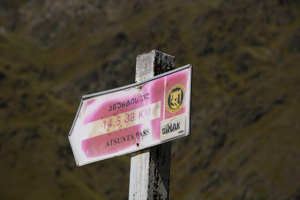 Schild Atsunta-Pass